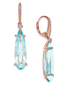 Danori Silver-Tone Crystal Drop Earrings, Created for Macy's (Also Available in Rose Gold-Tone)