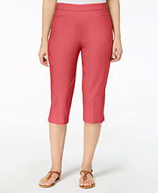 Alfred Dunner Petite Pull-On Capri Pants