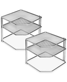 Honey Can Do 2-Pc. Corner Cabinet Organizer Sets