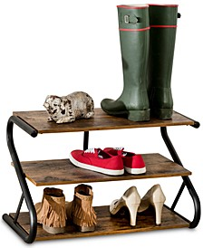 Rustic 3-Level Shoe Rack
