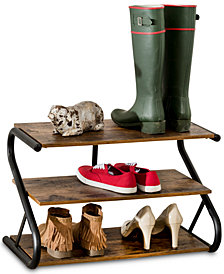 Honey Can Do Rustic 3-Level Shoe Rack