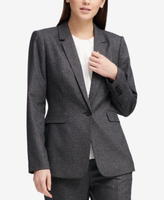 One-Button Pic-Stitch Jacket, Created for Macy's