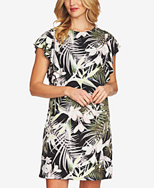 CeCe Flutter-Sleeve Shift Dress