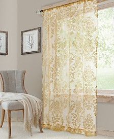 "Elrene Valentina 52"" x 84"" Sheer Jacquard Rod Pocket Curtain Panel"