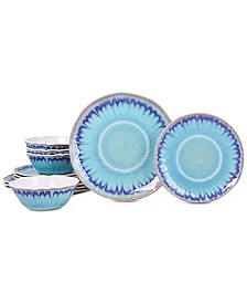 222 Fifth Sea Splash 12-Pc. Melamine Dinnerware Set
