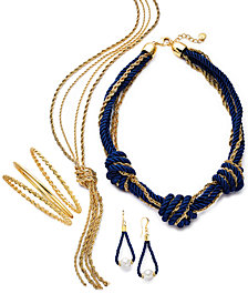 Charter Club Gold-Tone, Imitation Pearl & Rope Jewelry Separates, Created for Macy's