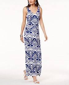 I.N.C. Ikat-Print Maxi Tank Dress, Created for Macy's