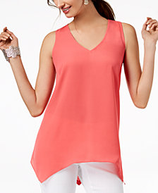 I.N.C. Petite Handkerchief-Hem Top, Created for Macy's