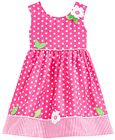 Blueberi Boulevard Little Girls Cotton Dot-Print Dress