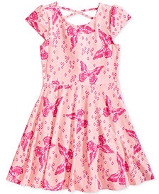 Epic Threads Little Girls Printed Skater Super-Soft Dress, Created for Macy's