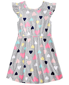 Epic Threads Little Girls Printed Flutter-Sleeve Super-Soft Dress, Created for Macy's