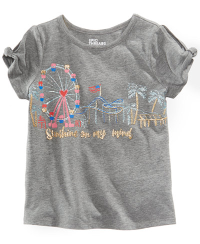 Epic Threads Little Girls Carnival T-Shirt, Created for Macy's