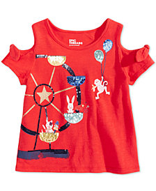 Epic Threads Little Girls Sequin Cold Shoulder T-Shirt, Created for Macy's
