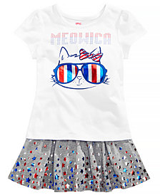 Epic Threads Little Girls T-Shirt & Star-Print Scooter Skirt, Created for Macy's