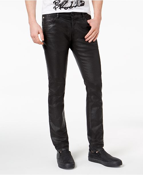 ca4f5efcd8 Just Cavalli Men s Slim-Fit Black Denim Jeans - Jeans - Men - Macy s