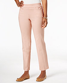 JM Collection Pull-On Slim-Leg Pants, Created for Macy's
