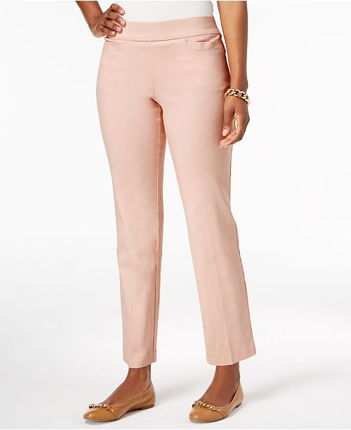 Pull-On Slim-Leg Pants, Created for Macy's