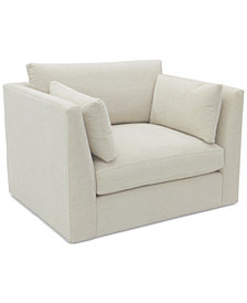 Kala 47'' Fabric Swivel Chair