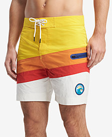 Tommy Hilfiger Men's Belmont Colorblocked 6.5'' Board Shorts, Created for Macy's