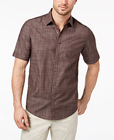 Alfani Men's Warren No Pocket Short Sleeve Shirt, Created for Macy's