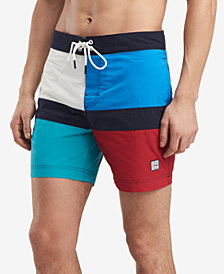 Tommy Hilfiger Men's Maison Colorblocked 6.5'' Board Shorts, Created for Macy's