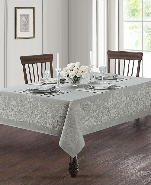 """Waterford Celeste Silver 70"""" x 84"""" Tablecloth"""