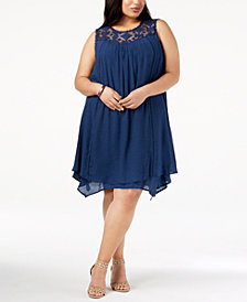 John Paul Richard Plus Size Handkerchief-Hem Dress