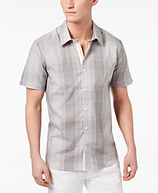 Ryan Seacrest Men's Slim-Fit Plaid Shirt