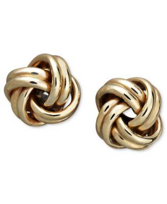 Love Knot Stud Earrings in 18k Gold Earrings Jewelry Watches
