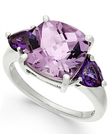 Amethyst Cushion Ring (4-1/5 ct. t.w.) in Sterling Silver