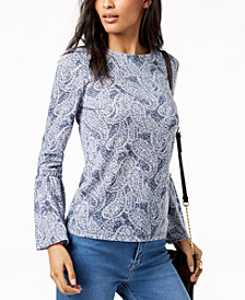 MICHAEL Michael Kors Paisley-Print Top in Regular & Petite Sizes