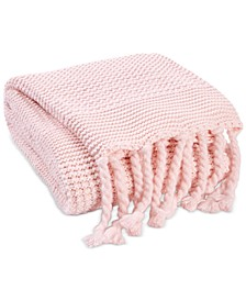 Multi-Knit Tassel Throw, Created for Macy's