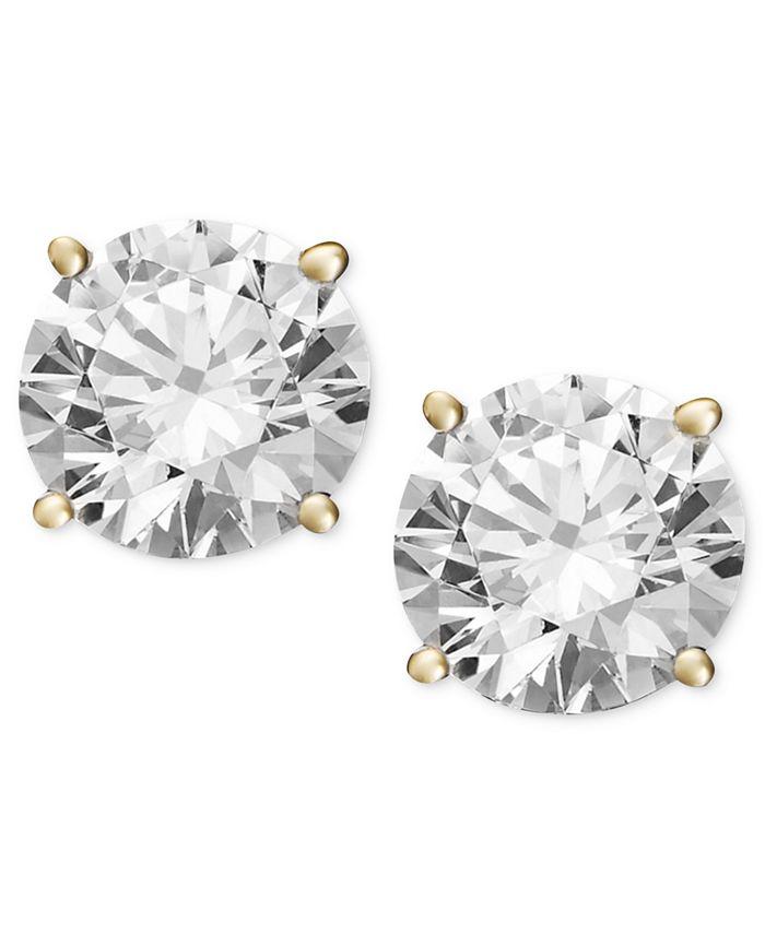 Macy's - Diamond Stud Earrings in 14k Gold (1-1/4 ct. t.w.)