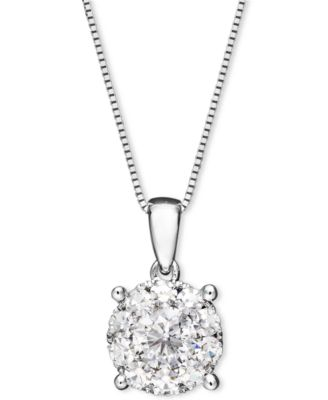 Macys diamond pendant necklace in 14k white gold 12 ct tw this item is part of the diamond pendant necklace in 14k white gold aloadofball Image collections