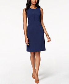 Kasper Stretch Crepe Sheath Dress