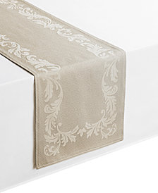 "Waterford Celeste Taupe 14"" x 90"" Table Runner"