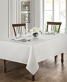 "Waterford Moonscape White 70"" x 144"" Tablecloth"