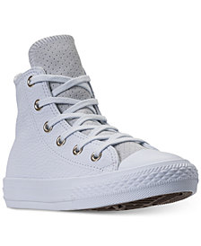 Converse Big Girls' Chuck Taylor All Star Leather High Top Casual Sneakers from Finish Line