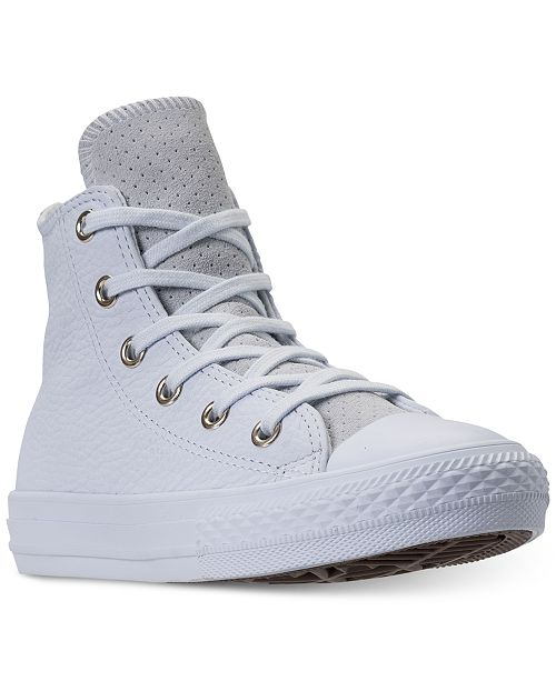 3c1fc4fe7042 ... Converse Big Girls  Chuck Taylor All Star Leather High Top Casual  Sneakers from Finish Line ...