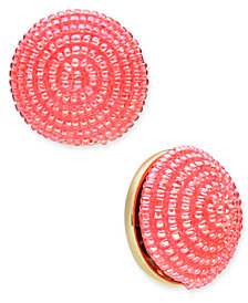 kate spade new york Gold-Tone Beaded Button Stud Earrings