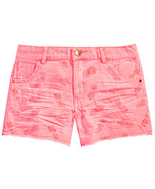 GUESS Big Girls Embroidered Pineapple Shorts