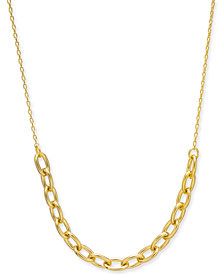 "kate spade new york Link Collar Necklace, 17"" + 3"" extender"