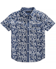 Sean John Big Boys Vine-Print Cotton Shirt