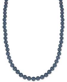 "Esquire Men's Jewelry Onyx (10mm) 30"" Necklace, Created for Macy's"