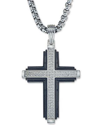 Esquire Men's Jewelry Diamond Cross 22