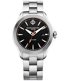 Baume & Mercier Men's Swiss Clifton Club Stainless Steel Bracelet Watch 42mm