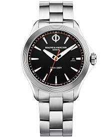 Baume & Mercier Men's Swiss Clifton Club Stainless Steel Bracelet Watch 42mm