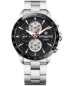 Baume & Mercier Men's Swiss Automatic Chronograph Clifton Club Indian Stainless Steel Bracelet Watch 44mm -  Limited Edition