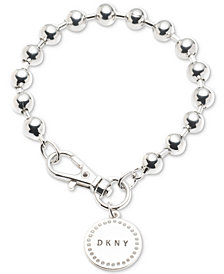 DKNY Logo Charm Beaded Bracelet, Created for Macy's