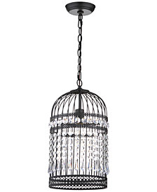 "Safavieh Ellison Bird Cage 10"" Dia Adjustable Pendant"